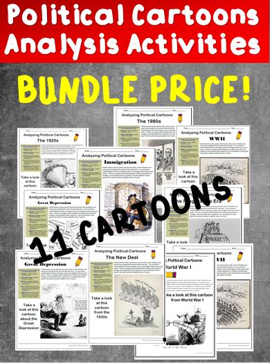 Bundle Political Cartoons Worksheet Social Studies