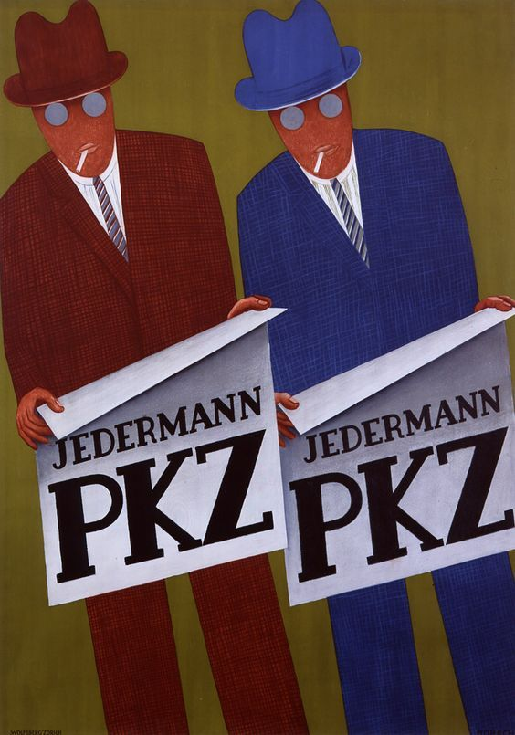 A 1928 poster by Otto Morach for the famous Swiss clothier PKZ, which stands for Paul Kehl of Zurich.