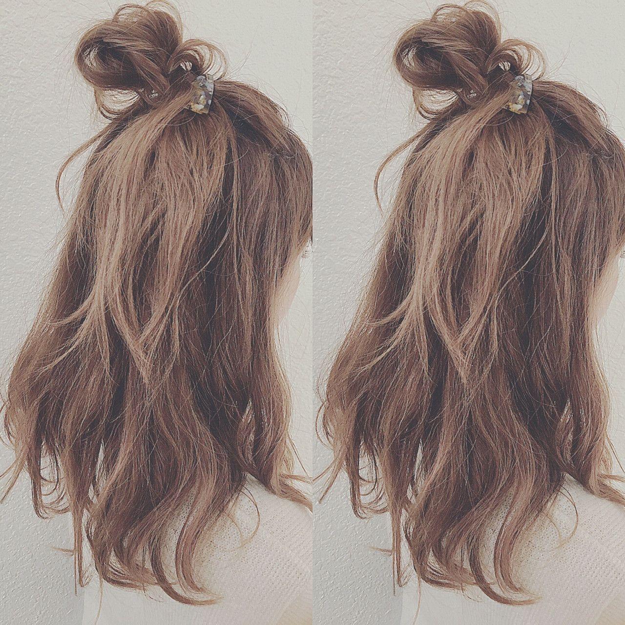 簡単 かわいい モテる その髪形はハーフアップ Hair 髪型