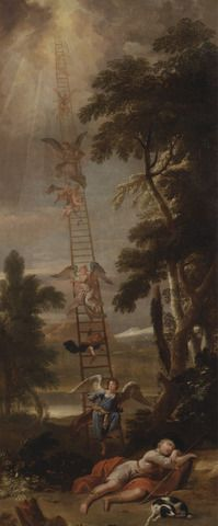 Sir James Thornhill, 1675–1734, British, Jacob's Dream, 1705, Oil on canvas, Yale Center for British Art, Paul Mellon Collection