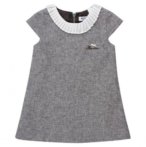 Moschino Ruffled Tweed Dress - Designer Labels For Kids - Events