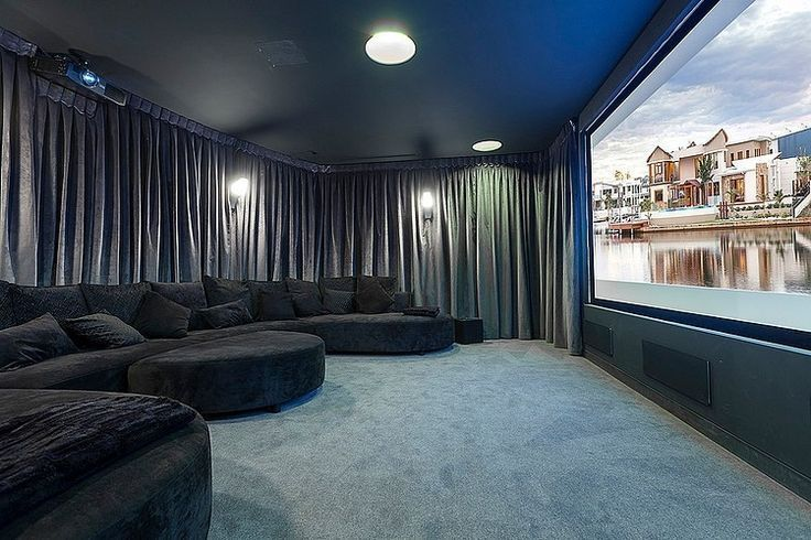 Curtain Idea For Movie Room Opening. Home Theater ...