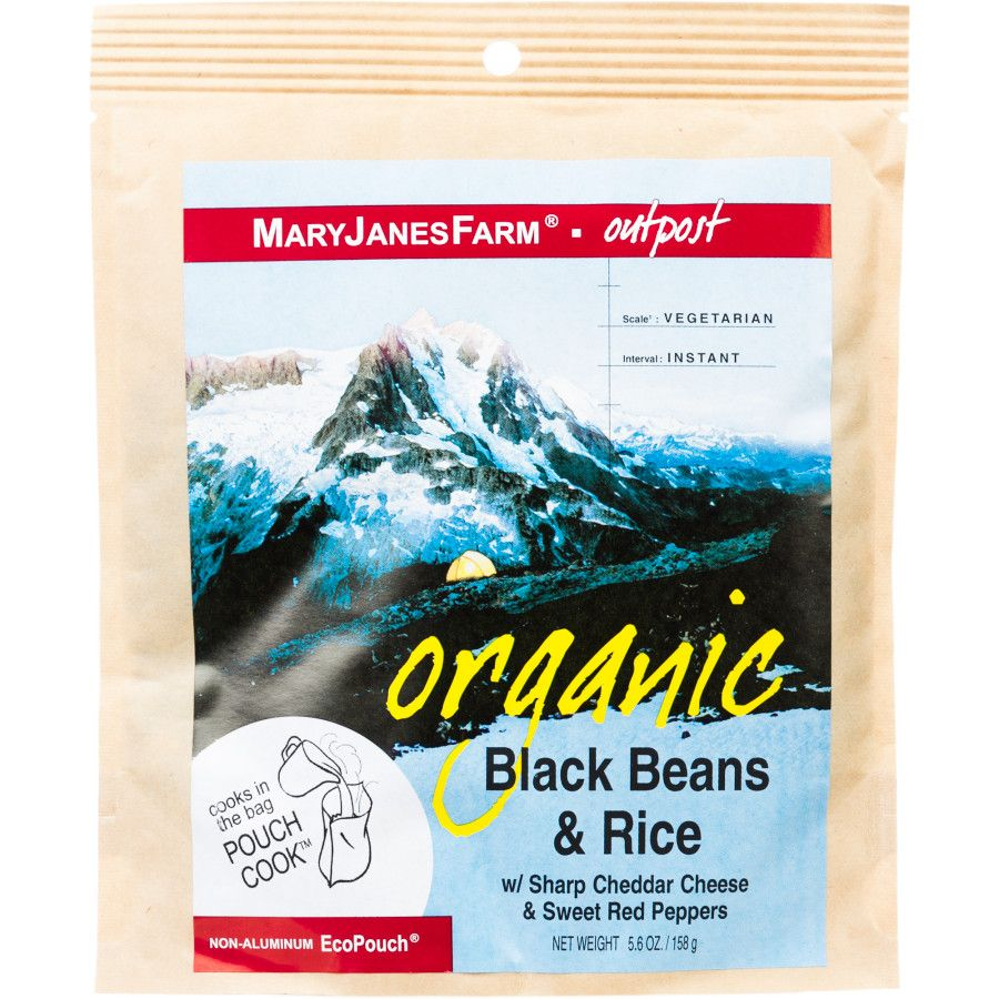 Mary Janes Farm Organic Black Beans Rice One Color Backpacking Food Cooking Black Beans Black Beans