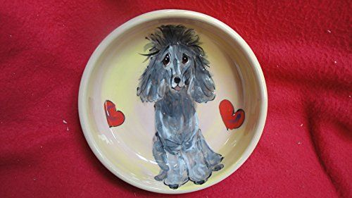 Poodle 10 Dog Bowl for Food or Water Personalized at no Charge Signed by Artist Debby Carman -- Click on the image for additional details.