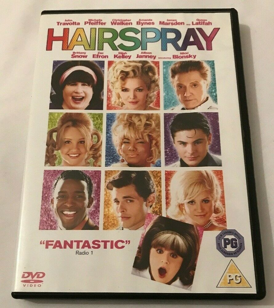 Only 1 72 Free Delivery Hairspray Dvd 2007 John Travolta