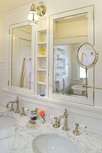 Warmington North Traditional Bathroom Bathroom Counter Storage