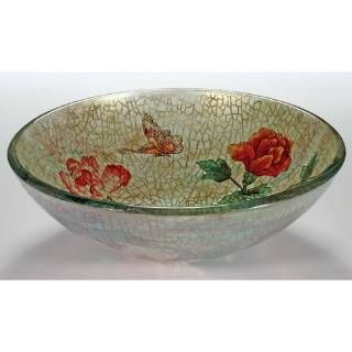 Check out the Legion Furniture ZA-180-1 Temper Glass Rose/ Butterfly Vessel Sink