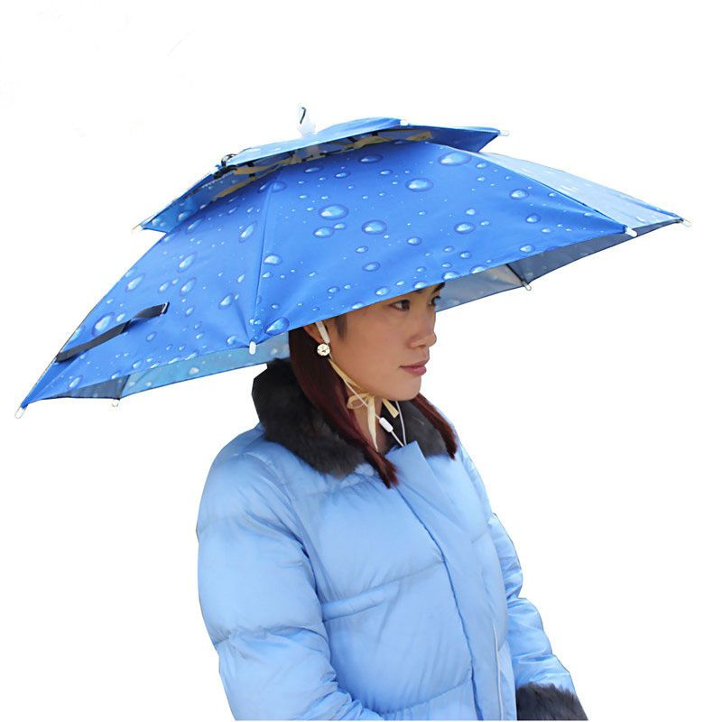 Outdoor Large double-deck Cycling Fishing Hiking Beach Camping Women Men  Kid Sunshade Sunny Rainy anti-UV Umbrella Hat Cap. Yesterday s price  US   16.39 ... abf8256a5ef