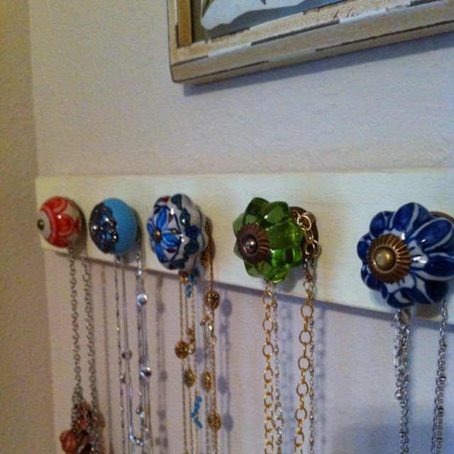 Jewelry Hanger I Made Based On An Idea On Pinterest Fun Project