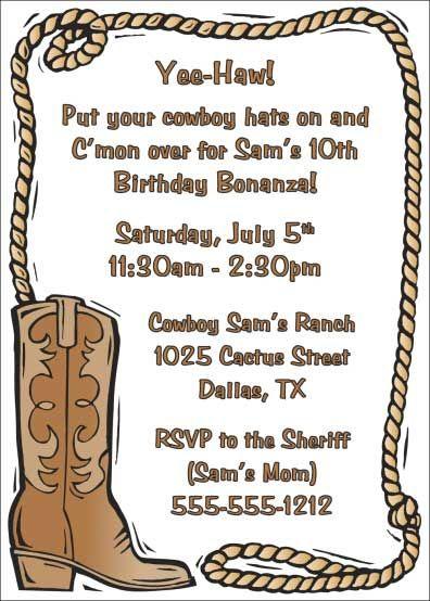Western Baby Invitation Cowboy Invitations Western Invitations Western Theme Party