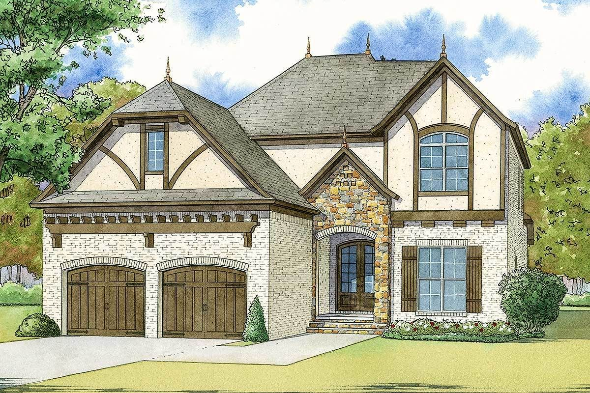 Plan 70570mk Tudor House Plan With Charming Accents Dream House Exterior Tudor Style Homes Country Style House Plans