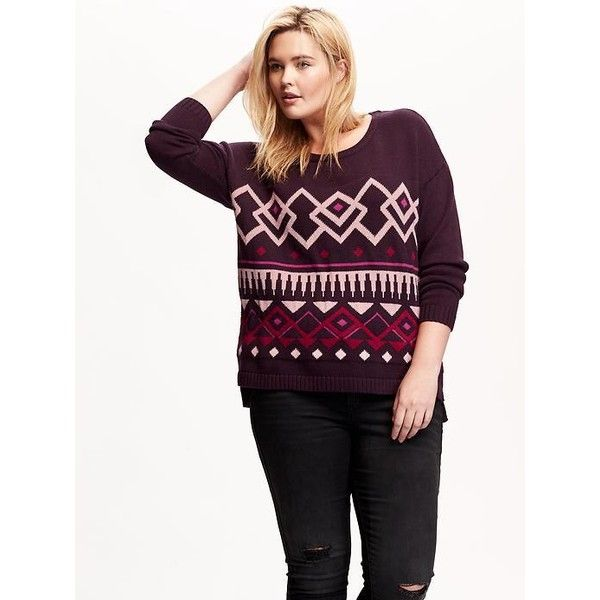 Old Navy Drop Shoulder Fair Isle Plus Size Sweater (27 CAD ...