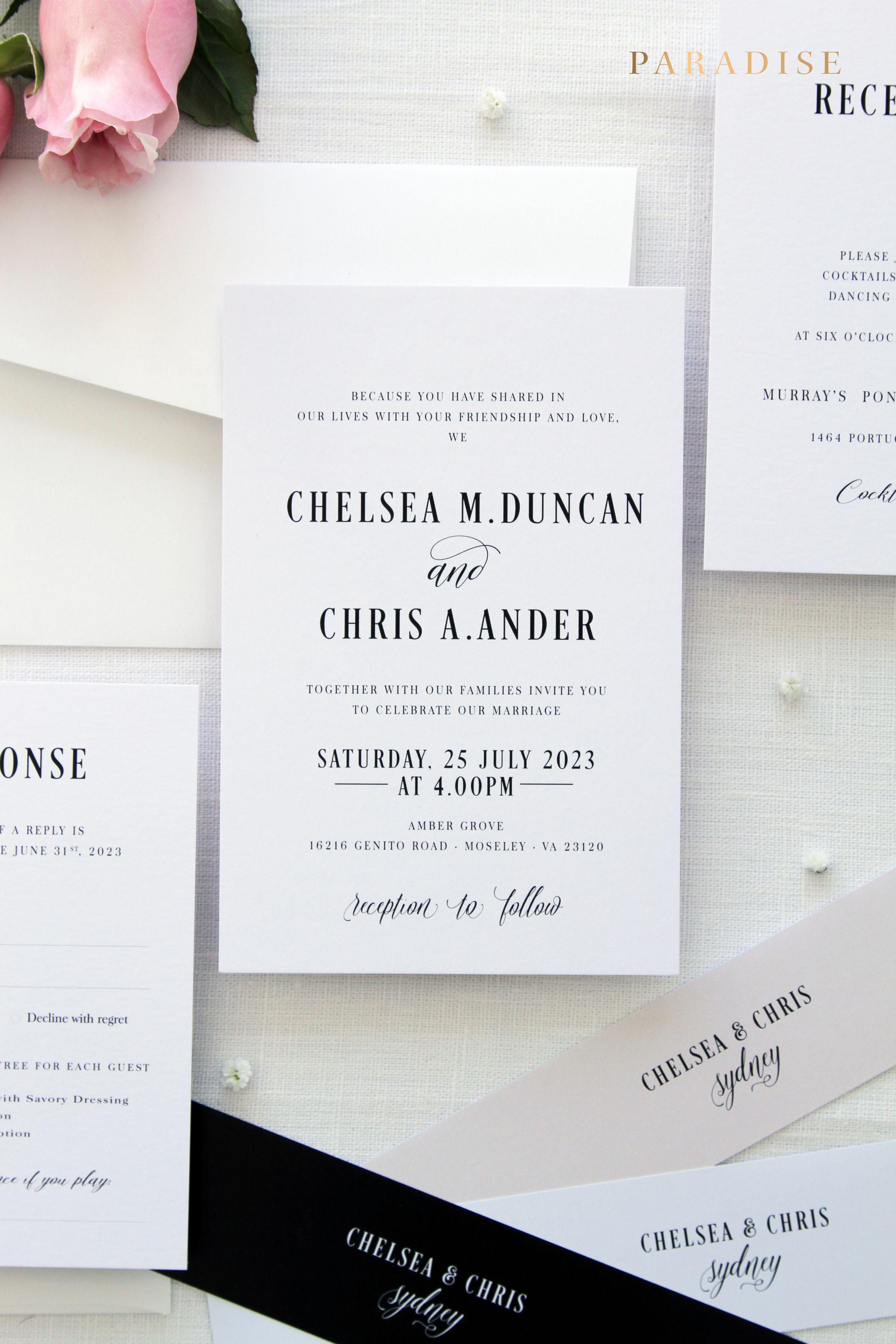 Ansley Wedding Invitation Sets, Printable Invitations or Printed ...