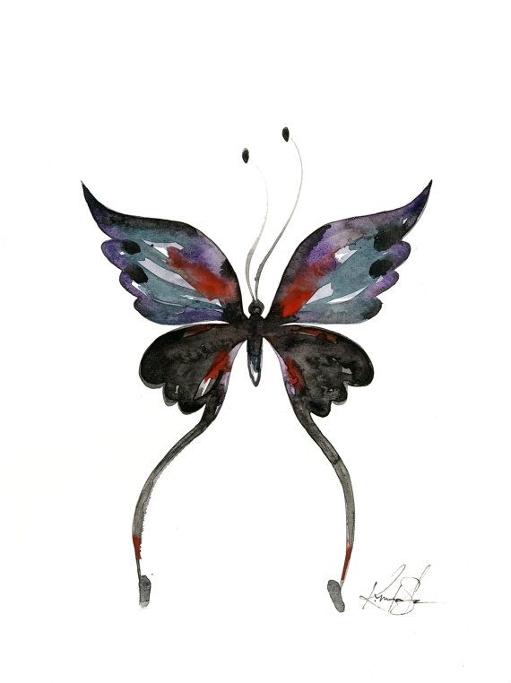 73fd333b387 Abstract Butterfly Watercolor painting