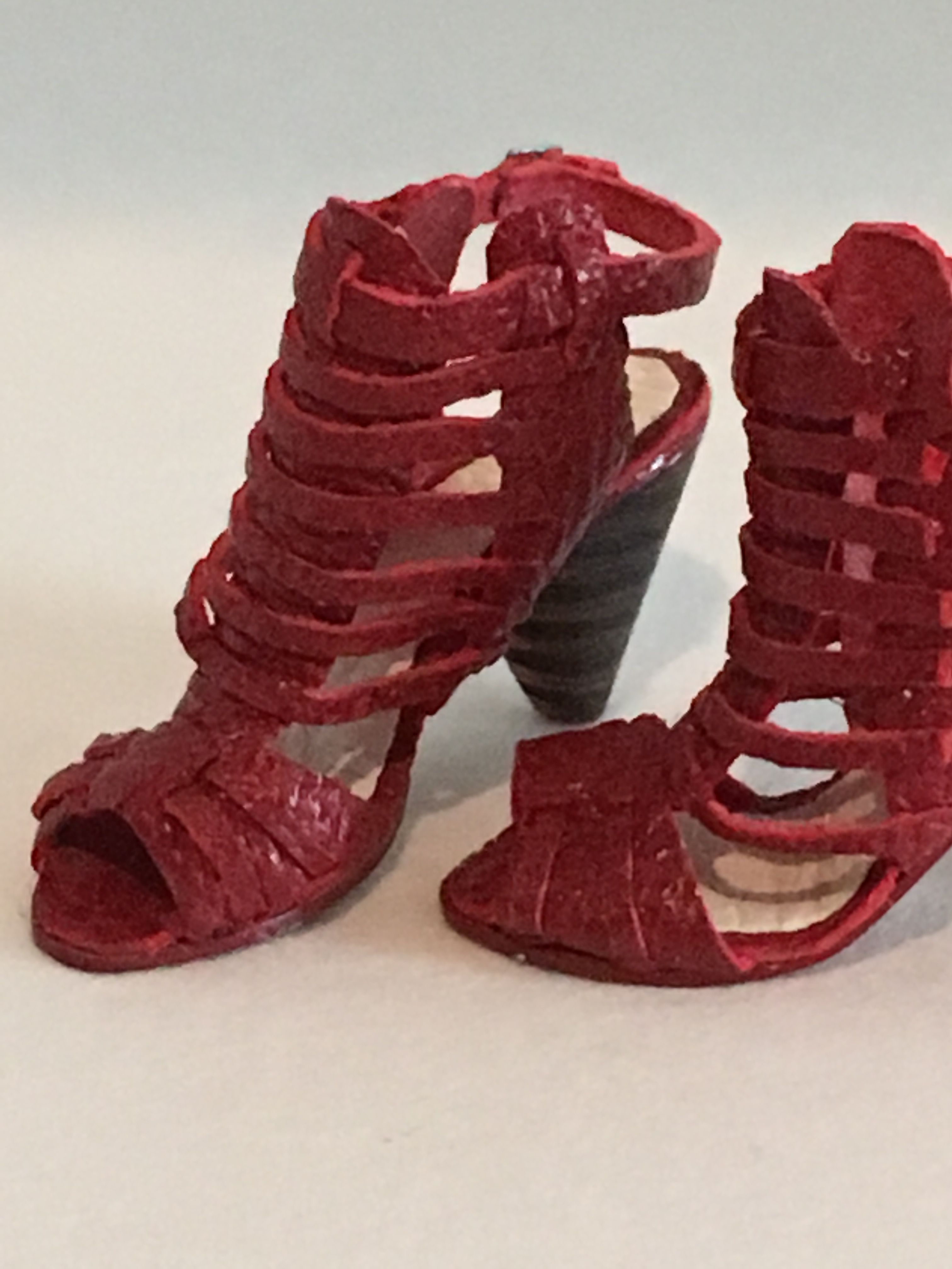 Patrizia santi igma artsan red leather sandals after vince camuto