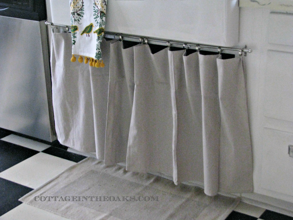 How To Cleverly Conceal Clutter: DIY Fabric Curtains, Skirts U0026 Covers |  Clutter And Fabrics