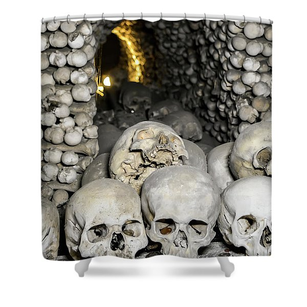 Shower Curtain Featuring The Photograph Skulls And Bones In
