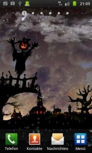 Halloween Scene Live Wallpaper Is Animated Livewallpaper For Lovers Of Halloween And Simple Arts Halloween Scene Phone Themes Live Wallpapers