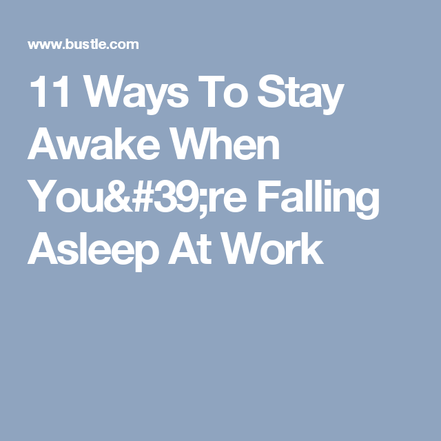 natural ways to stay awake