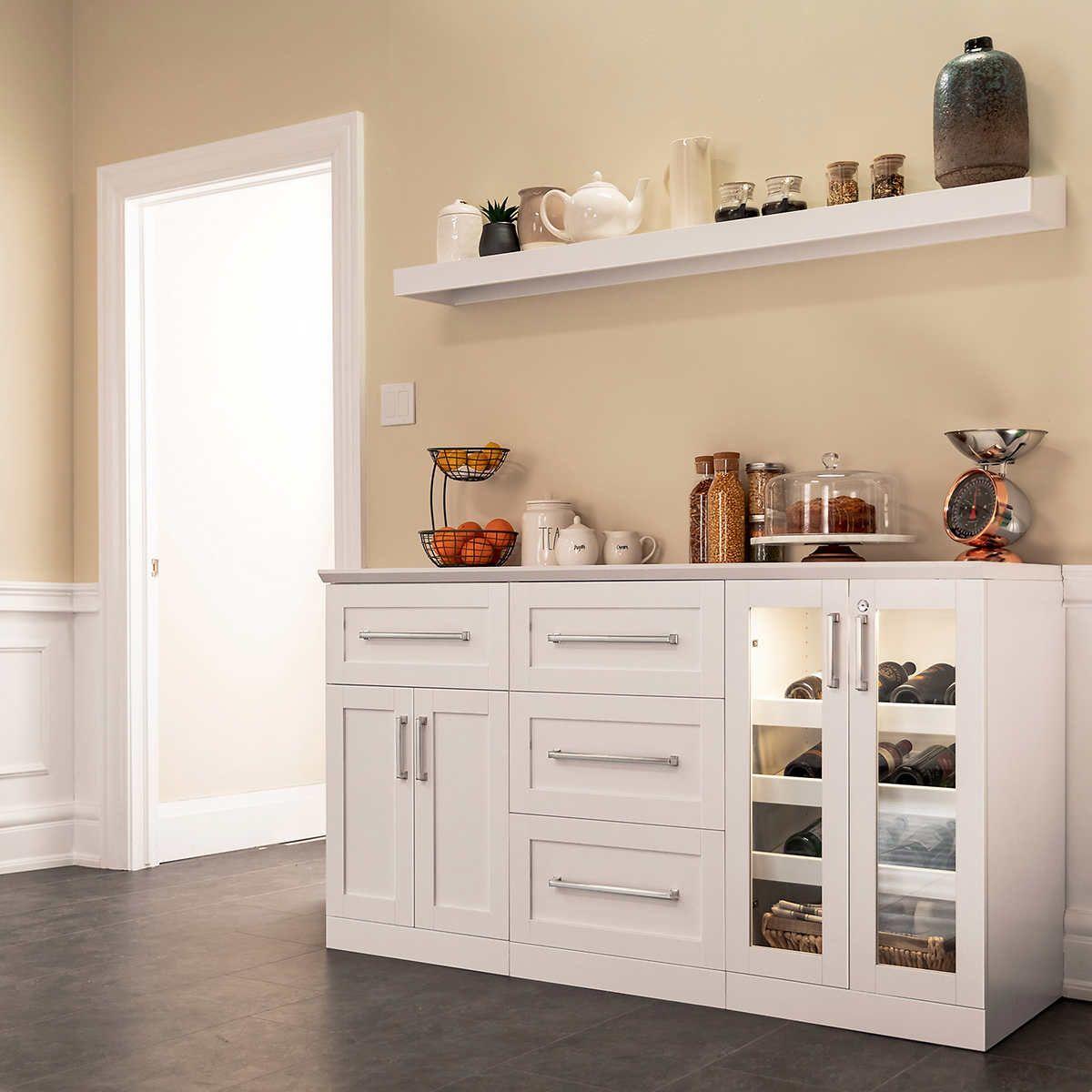 Home wine bar 5piece set with display shelf by