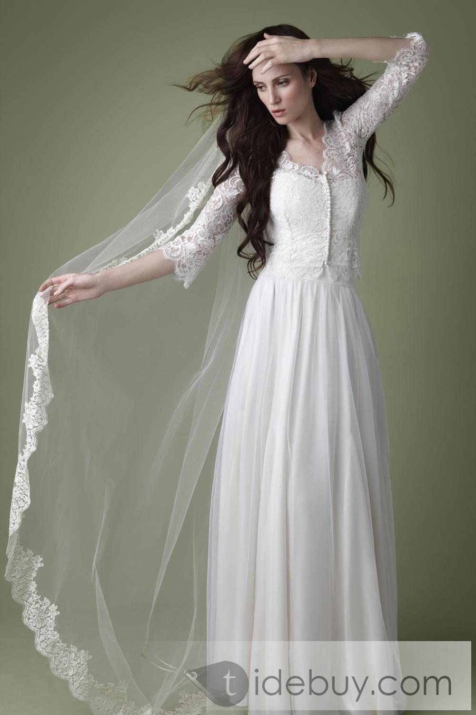 Column Wedding Dress Patterns