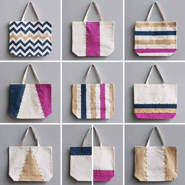 How to Make a Chic Weekend Tote | Bag, Tote bag and Craft