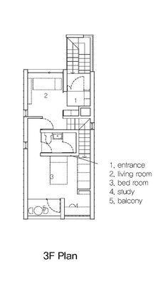 Galeria De Casas Pequenas En Daecheong Dong 5x17 Jmy Architects 17 Small House Small House Design Craftsman Floor Plans