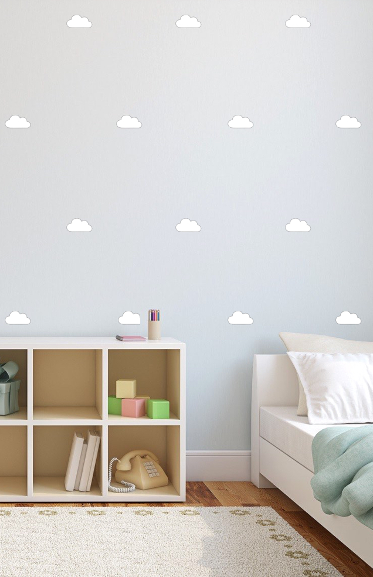Beau Cloud Wall Stickers Wall Decals White