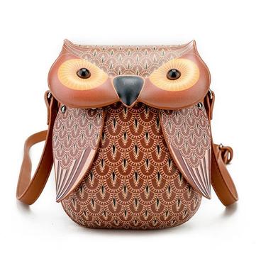 Cartoon Owl Shape Shoulder Bag Creative Crossbody Bag Phone Bag ... dd1b24bcf5