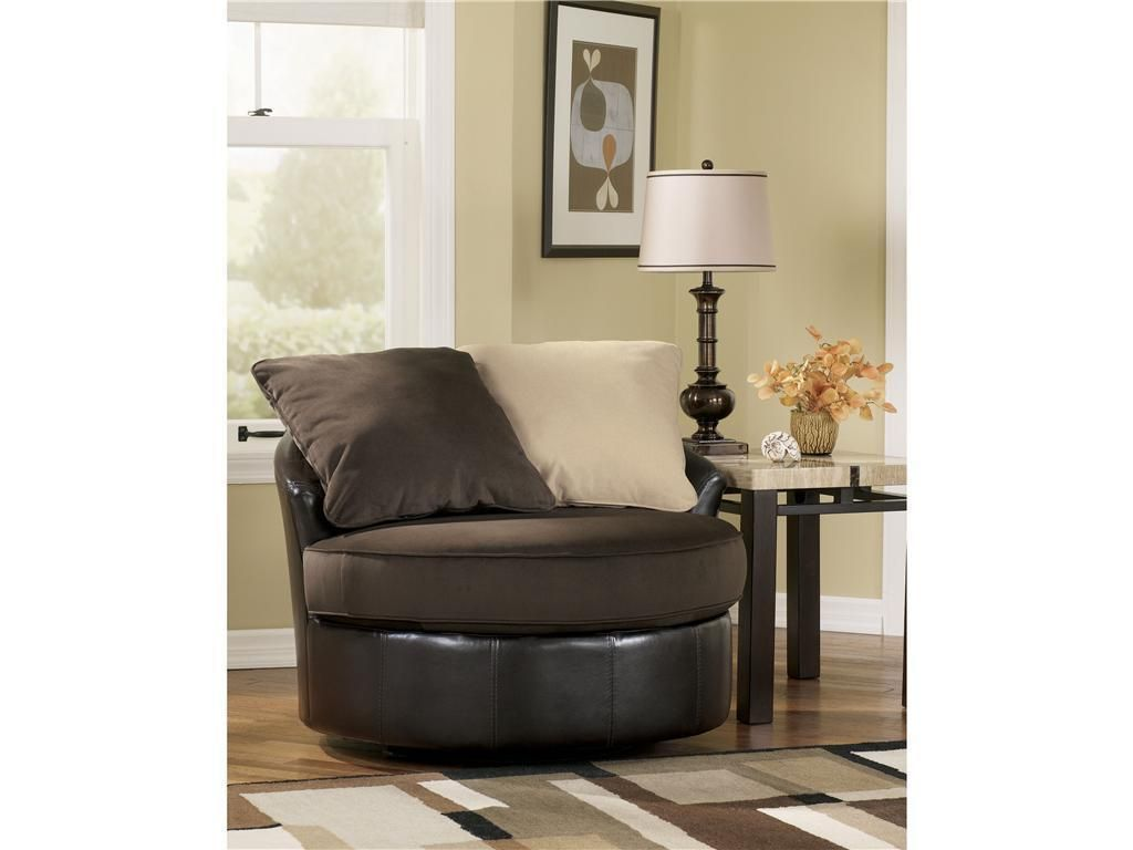 Round Living Room Chair Ashley Furniture Ashley Furniture Vivanne Round Swivel Office