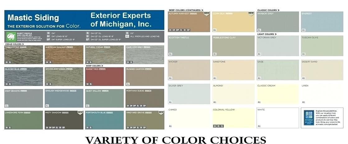 house siding colors lowes mastic siding color charts vinyl on lowe s exterior paint colors chart id=17711