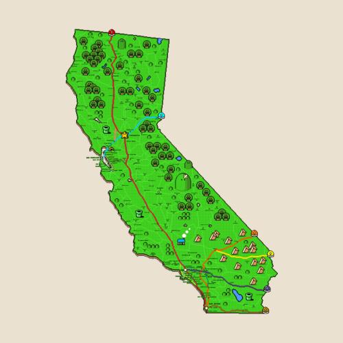 California Super Mario World Map in 2019 MountainHouse 513
