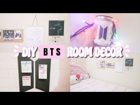 diy bts room decor - indonesia - youtube | room decor