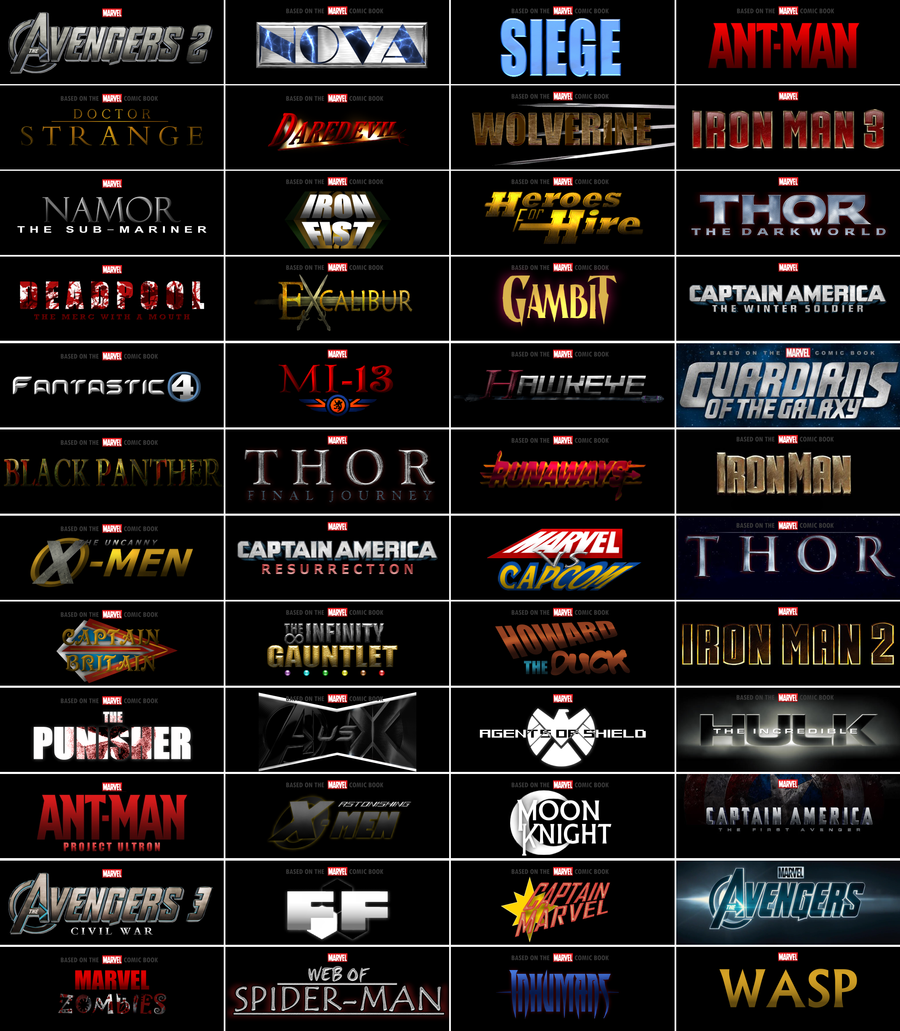 OH MY GOSH     FINALLY! Some more Marvel character movies