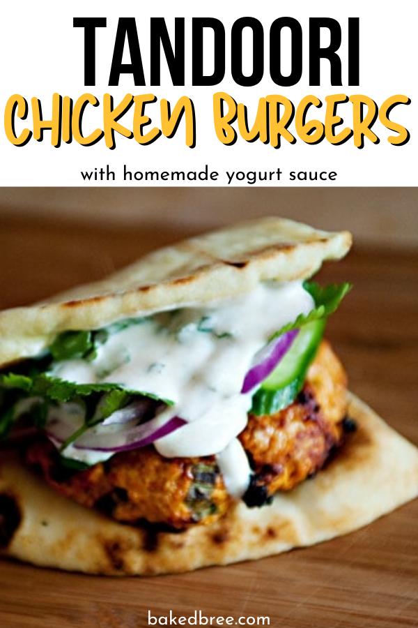 Tandoori Chicken Burgers #tandoorichicken