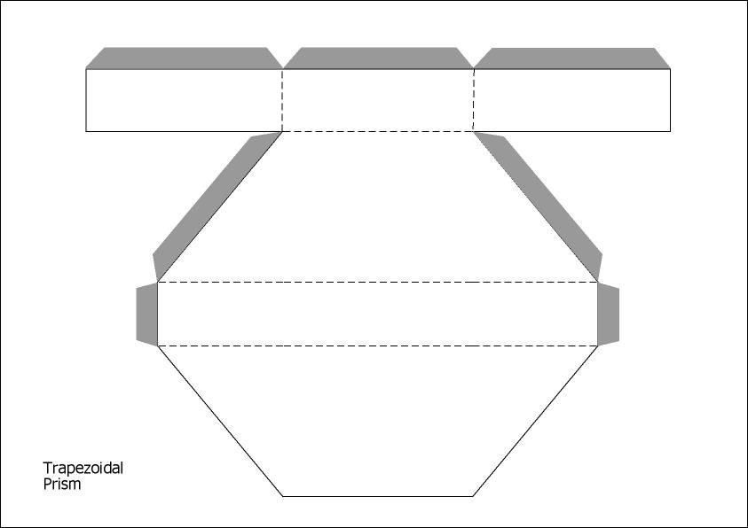 Trapezoidal Prism Templates Graphic