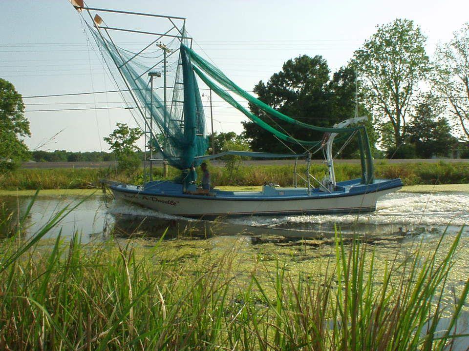houma la Houma, LA Shrimp boat cruising down Bayou