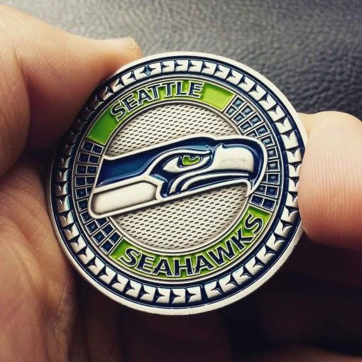 Seahawks NFL Coins Poker Card Guard SEAHAWKS Pinterest