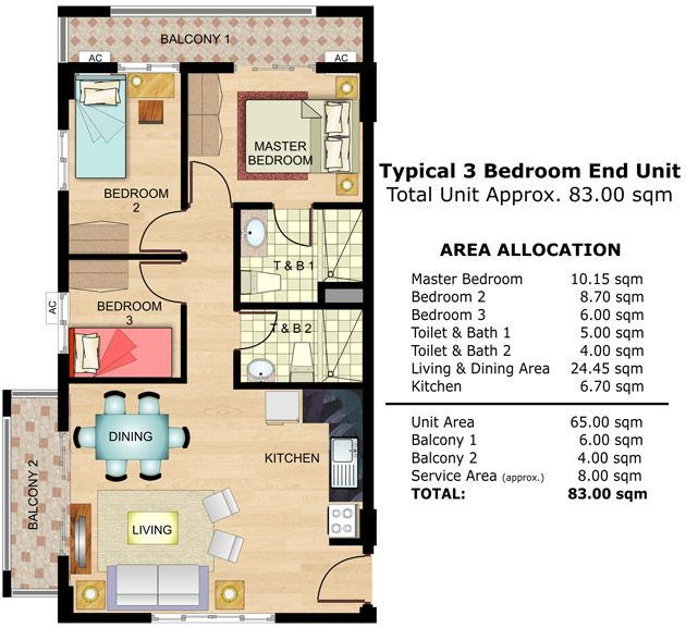 Cedar Crest 3 Bedroom Unit Floor Plan Realestate Condo Condoforsale Manilacondo Www Mymanilacondo Com Condos For Sale Condo Luxury Condo