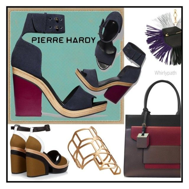 """Pierre Hardy"" by whirlypath ❤ liked on Polyvore featuring Pierre Hardy"