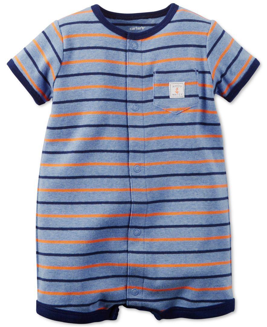 Carter's Baby Boys' Mixed-Stripe Creeper