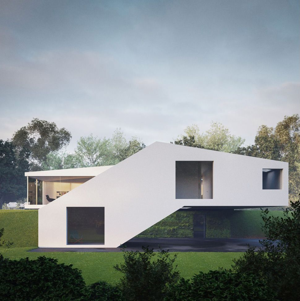 Futuristic Countryside Home in Southern Germany Architecture