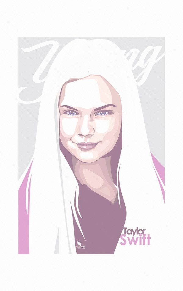 Download Young of Taylor Swift vector by opparudy | Kadın