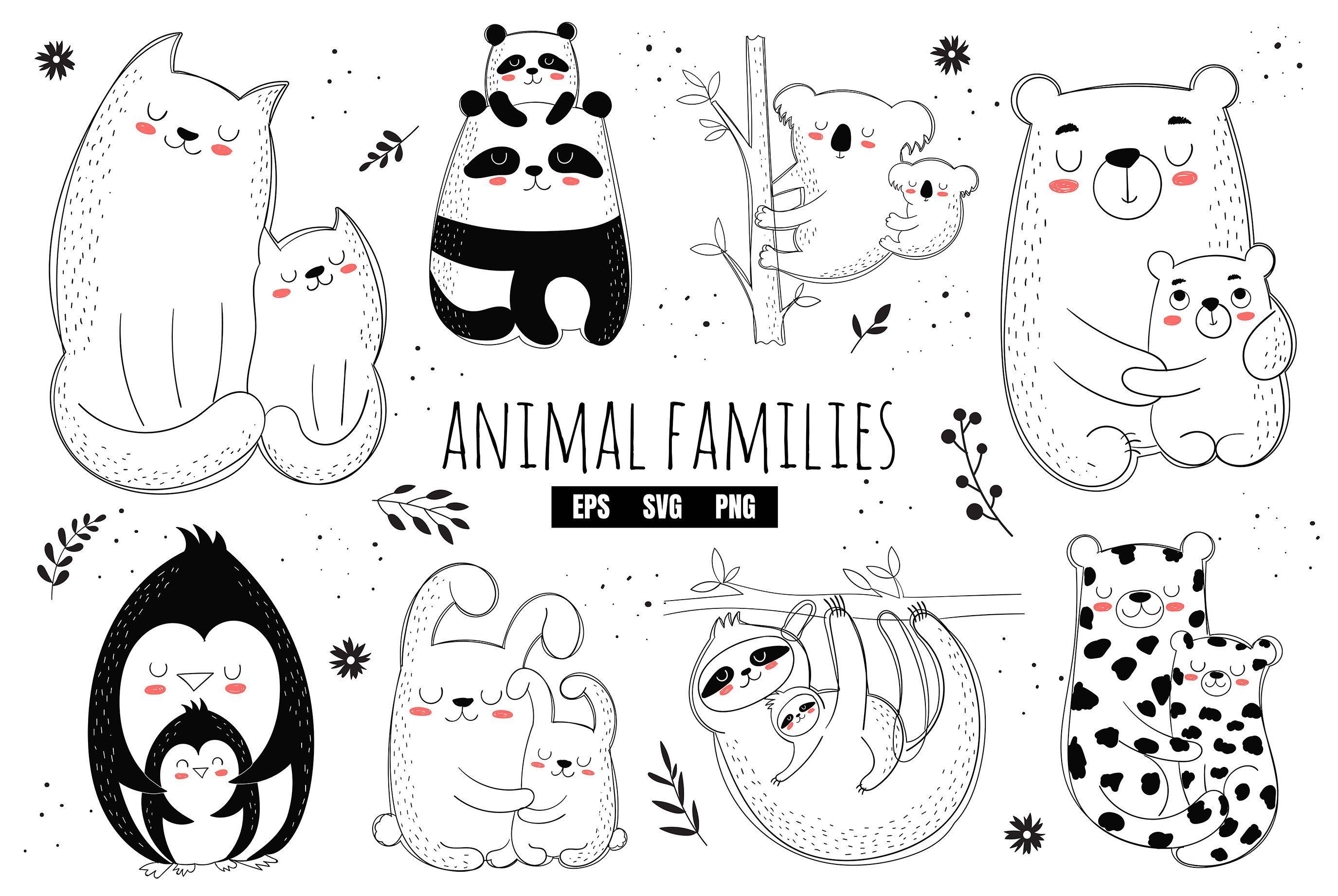 Mothers Day Svg Mother S Day Clipart Animal Mothers Bear Etsy Clipart Decoraciones De Guarderia Tarjetas Del Dia De Las Madres