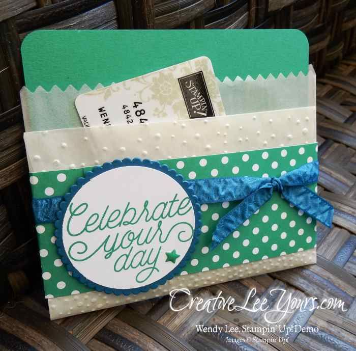 Folded Bag Gift Card Holder