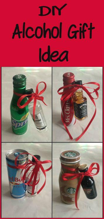 Diy Alcohol Gift Idea Alcohol Gifts Mini Alcohol Bottles
