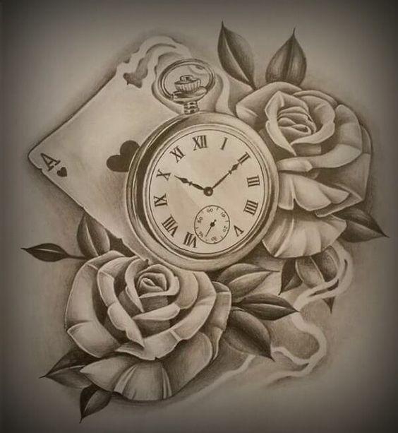 49 Amazing Clock Tattoos Ideas Clock Tattoo Design Clock Tattoo Rose Tattoos Tumblr