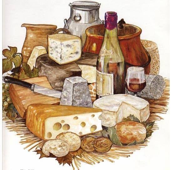 Рисунки февраля, картинки с сыром для декупажа