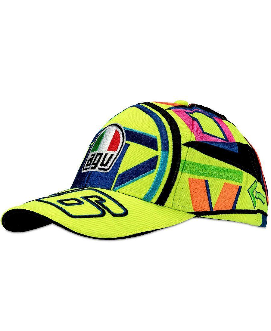 Valentino Classic Helmet Rossi Cap Motogp iZOkTPXu