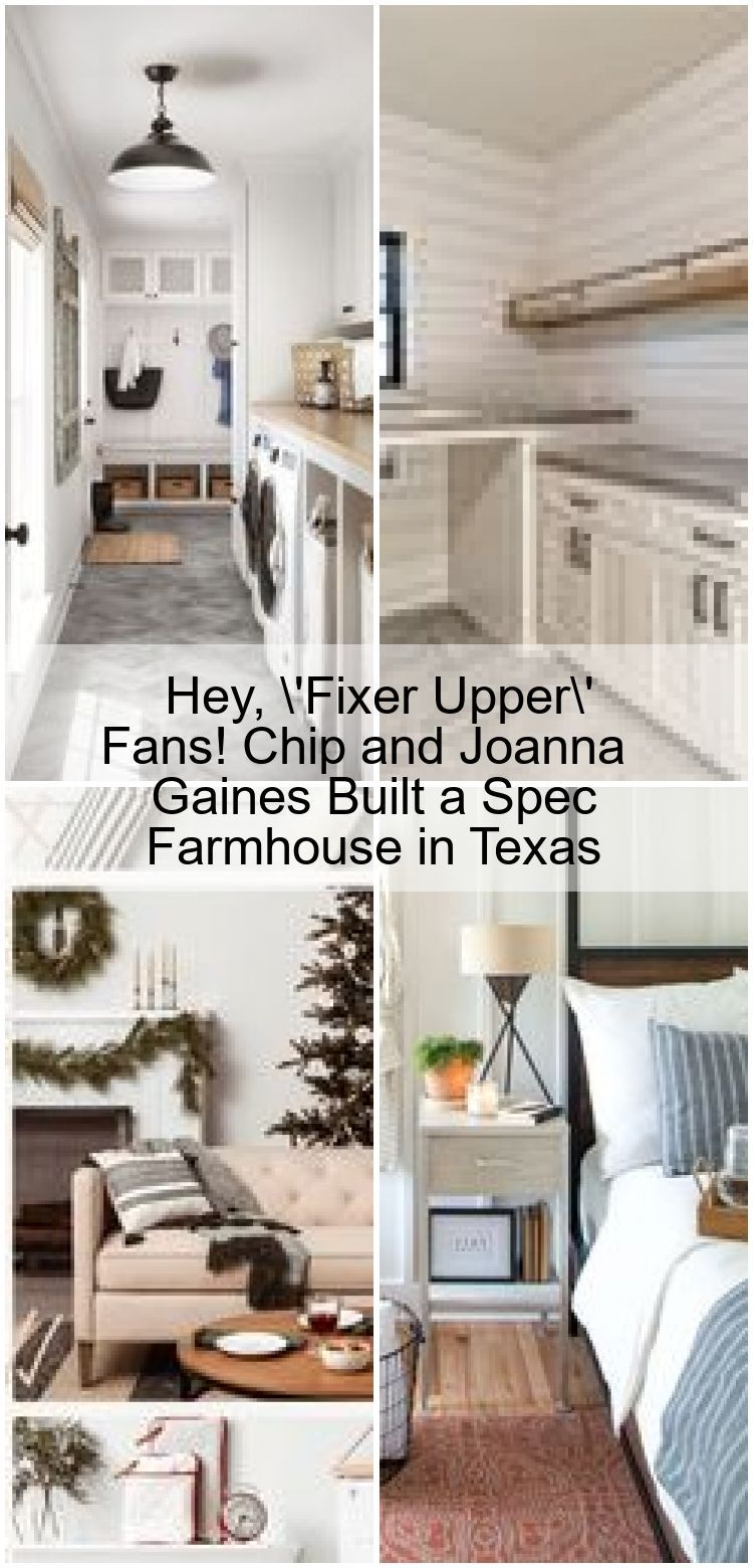 Hey, 'Fixer Upper' Fans! Chip and Joanna Gaines Built a Spec Farmhouse in Texas ,  #Built #Ch... #chipandjoannagainesfarmhouse